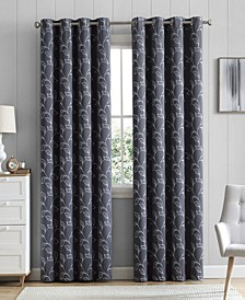 Obscura Hobart Floral Blackout Grommet Curtain Panels - 52 W x 96 L - Set of 2