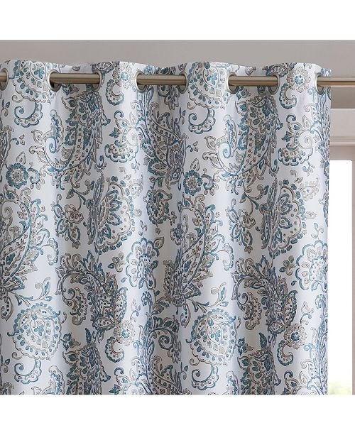 HLC.me Obscura by Darwin Print 100% Blackout Grommet Curtain Panels - 52 W x 84 L - Set of 2