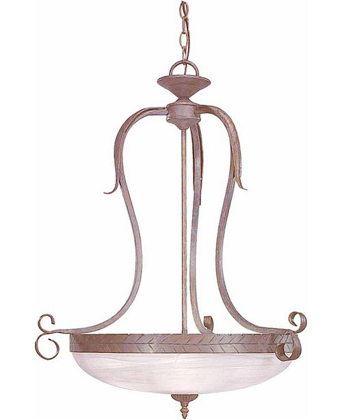 Volume Lighting Brisbane 3-Light Hand-Forged wrought Iron Hanging Pendant