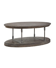 Corbin Oval Cocktail Table, Quick Ship