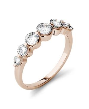 Moissanite Graduated Seven Stone Band 7/8 ct. t.w. Diamond Equivalent in 14k White