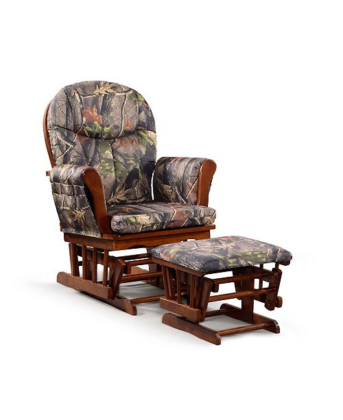 Tremendous Home Deluxe Cushion 2 Piece Glider Chair And Ottoman Set Bralicious Painted Fabric Chair Ideas Braliciousco