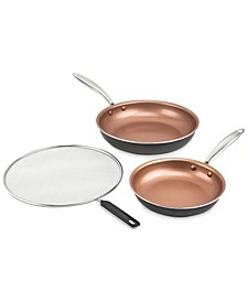 "8"" & 10"" Fry Pan Pack with Splatter Screen"