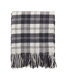 Classic Plaid Pattern Tassel Throw