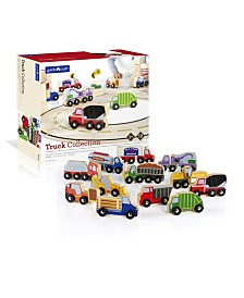 Guidecraft Wooden Truck Collection - Set of 12
