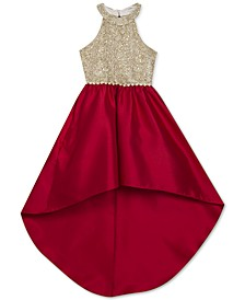 Big Girls Embellished High-Low Dress