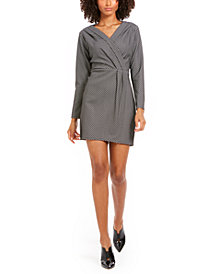 NY Collection Petite Faux-Wrap Sheath Dress
