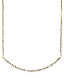 "Diamond Curved Bar 18"" Statement Necklace (1/2 ct. t.w.) in 14k Gold"