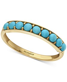 EFFY® Manufactured Turquoise Band in 14k Gold