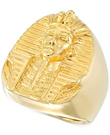 LEGACY for MEN by Simone I. Smith Men's Pharaoh Ring in Yellow Ion-Plated Stainless Steel