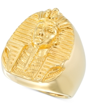 Smith Men's Pharaoh Ring in Yellow Ion-Plated Stainless Steel