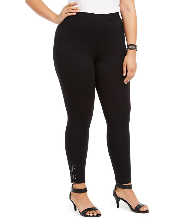 Style & Co Plus Size Ankle-Zip Leggings, Created for Macy's