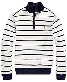 Big Boys Cotton Interlock Stripe Pullover