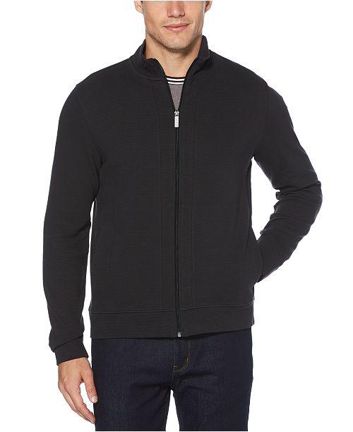 Perry Ellis Men's Ottoman Full-Zip Sweater