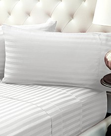 310 Thread Count Cotton Sheet Set Damask Stripe