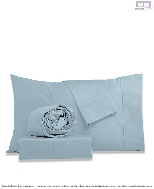Color Sense Beautifully Crafted Percale Sheet Set- King