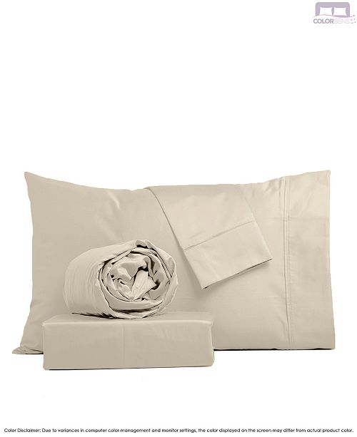 Color Sense Beautifully Crafted Percale Sheet Set- Full