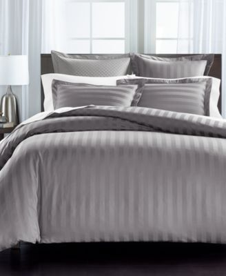 Stripe Cotton 550-Thread Count King Sham, Created For Macy's