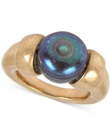 Gold-Tone Freshwater Pearl (12mm) Sculptural Ring