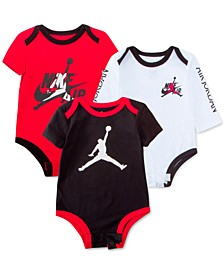Baby Boys 3-Pk. Cotton Jumpman Bodysuits