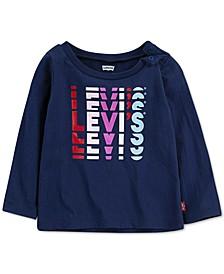 Baby Girls Logo-Print Cotton T-Shirt