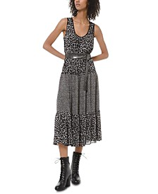 Michael Michael Kors Mixed Cheetah-Print Dress