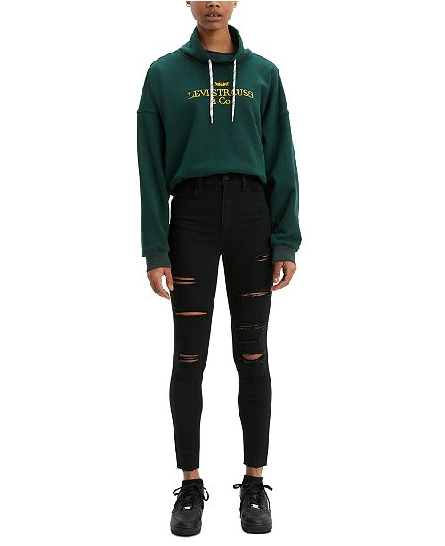 Levi's Mile High Ripped Super Skinny Jeans