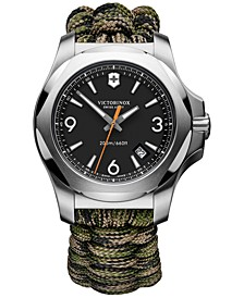 Men's I.N.O.X. Green Camo Paracord Strap Watch 43mm