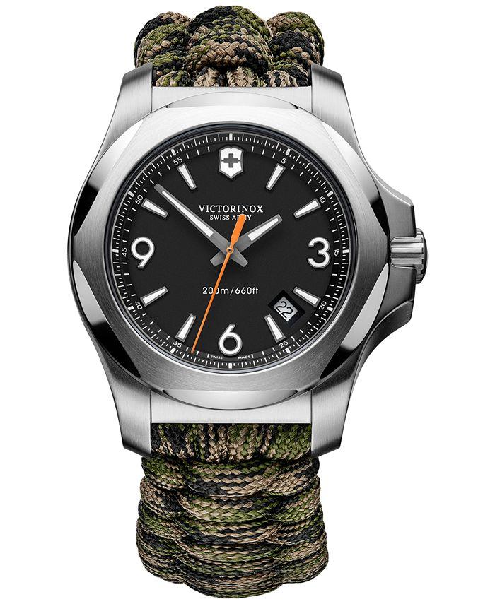 Victorinox Swiss Army - Men's I.N.O.X. Green Camo Paracord Strap Watch 43mm