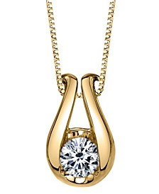 Sirena Diamond (1/4 ct. t.w.) Horseshoe Pendant in 14k White or Yellow Gold