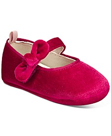 Baby Girls Velvet Bow Shoes, Created For Macy's