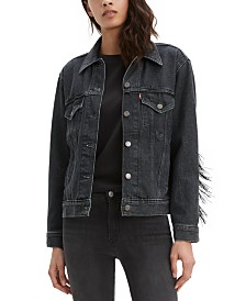 Levi's® Ex-Boyfriend Cotton Fringe Trucker Jacket