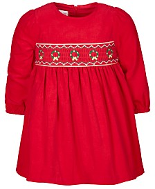 Bonnie Baby Baby Girls Holiday Corduroy Dress