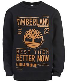 Timberland Big Boys Sawyer Black Logo Sweatshirt