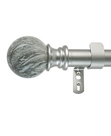 Marble Ball Curtain Rod Set