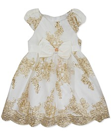 Baby Girls Embroidered Mesh Dress & Panty