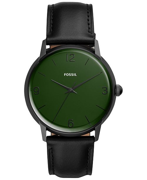 Men's Mood Black Leather Strap Watch 42mm A Limited Edition