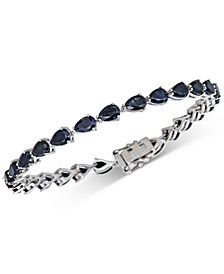 Black Sapphire Tennis Bracelet (13 ct. t.w.) in Sterling Silver