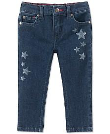Tommy Hilfiger Baby Girls Glitter Star Skinny Jeans
