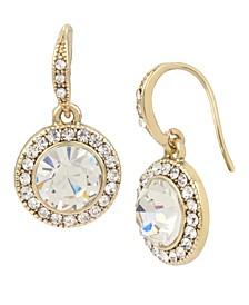 Pave Stone Drop Earrings