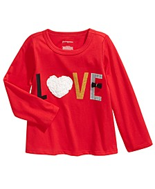 Toddler Girls Love-Print Cotton T-Shirt, Created For Macy's