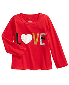 First Impressions Baby Girls Cotton Love T-Shirt, Created For Macy's