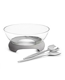 Forte Glass Salad Bowl w/Servers