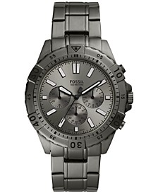 Men's Chronograph Garrett Smoke Gray Stainless Steel Bracelet Watch 44mm