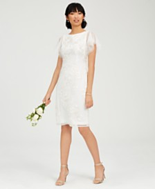 Adrianna Papell Embroidered Floral Sheath Dress