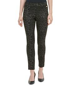 Calvin Klein Leopard-Print Pants