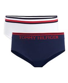 Tommy Hilfiger Little & Big Girls 2-Pk. Seamless Hipster Underwear