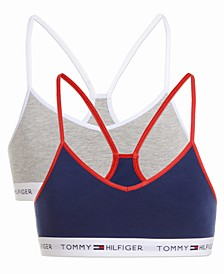 Little & Big Girls 2-Pk. Logo-Band Bras