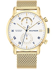 Women's Gold-Tone Stainless Steel Mesh Bracelet Watch 44mm, Created for Macy's
