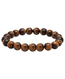 Men's Genunie Tiger Eye Stone Brown Beaded Bracelet